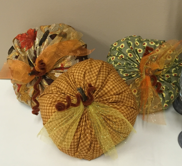 Fabric Pumpkins set of 3 for $10