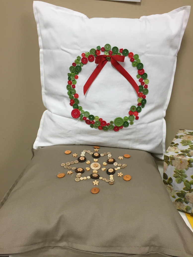 Button Pillow with Insert $14